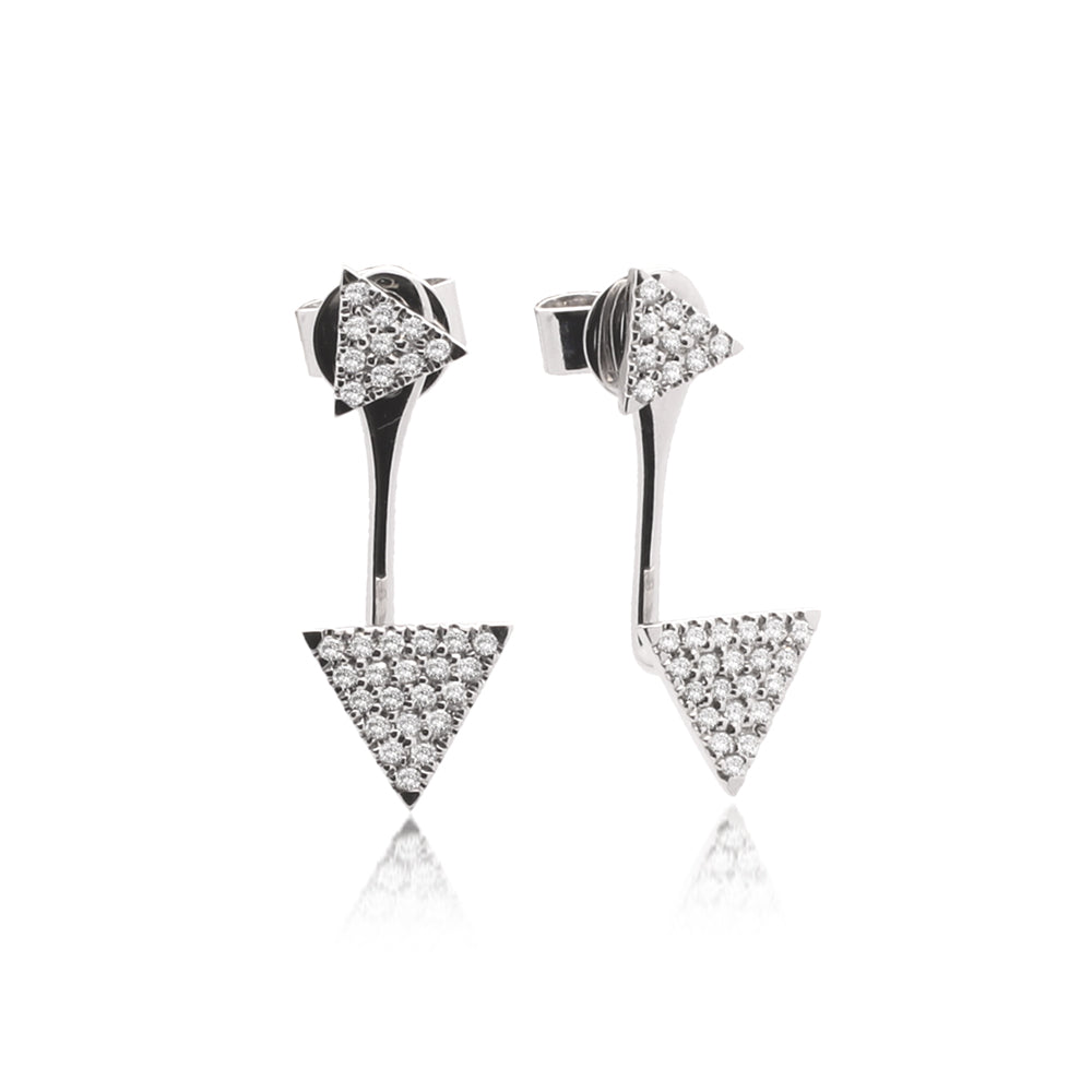Meira T White Gold Triangle Diamond Ear Jackets
