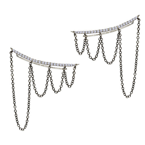 Moonstone Diamond Starburst Choker