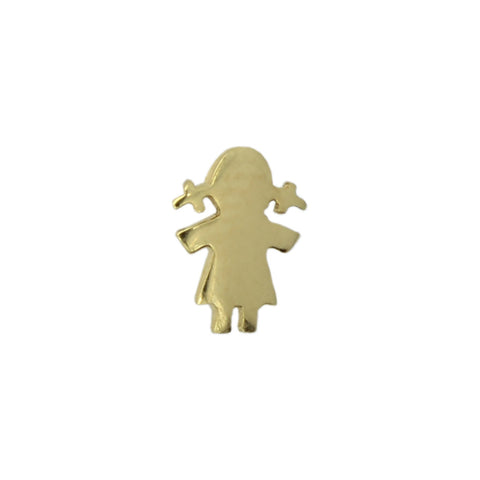 Meira T Gold Little Girl Stud Earring