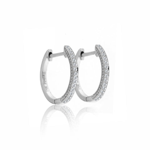 Diamond Encrusted Hoops