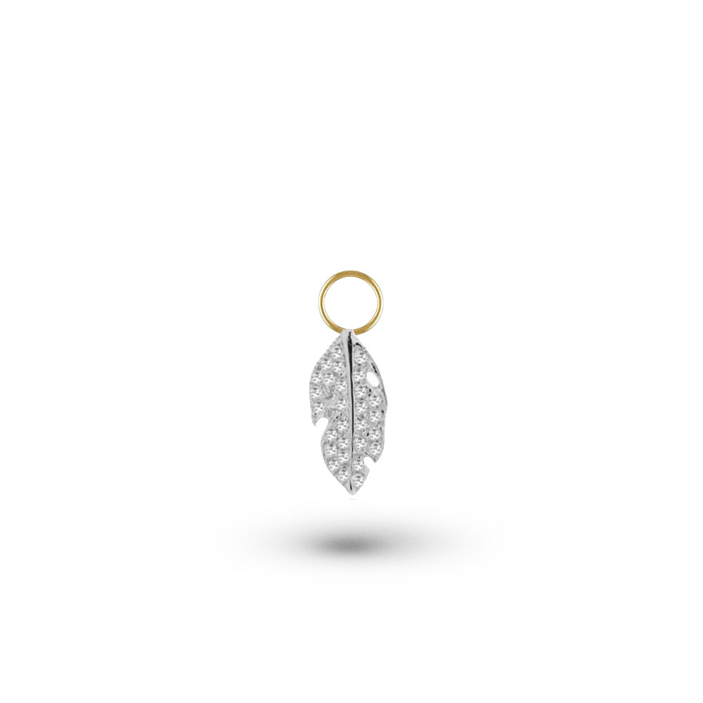 diamond feather charm