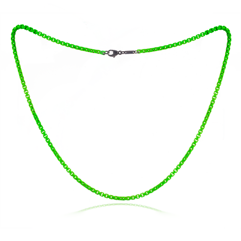 Neon Green Chain Necklace