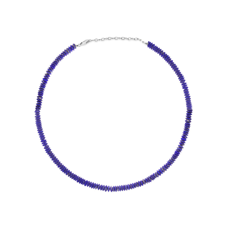 Navy Lapis Beaded Necklace