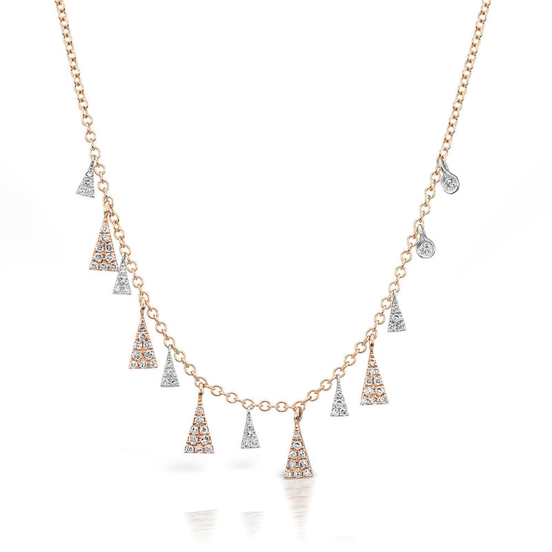 Two Tone Rose Gold & Diamond Necklace