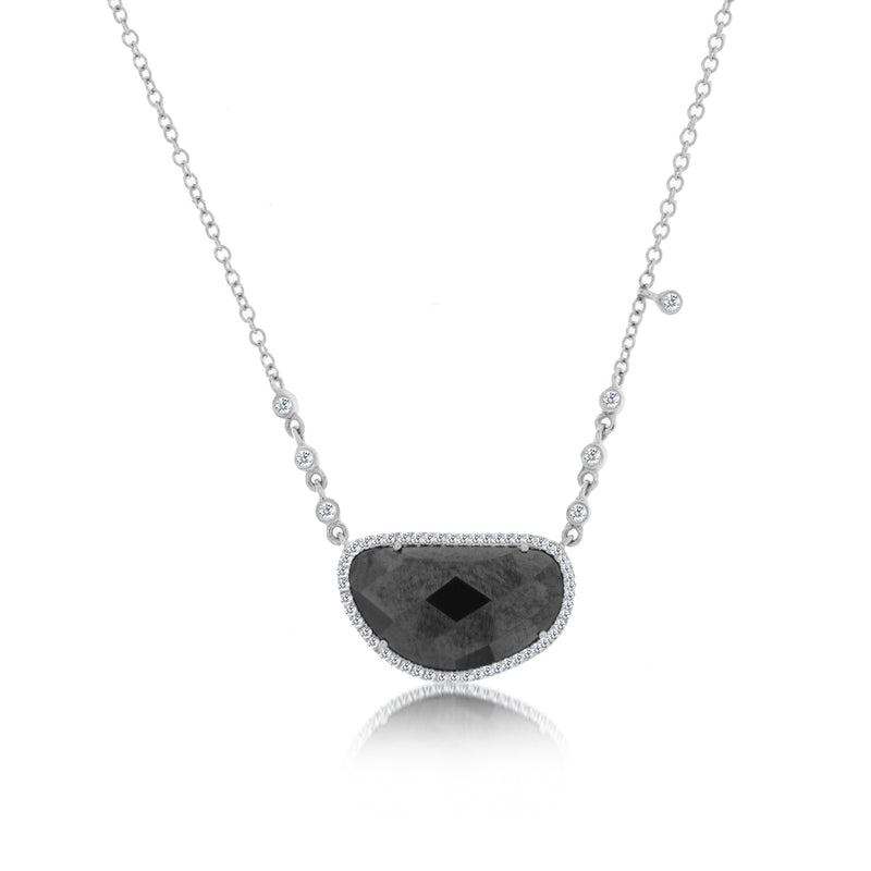 Meira T White Gold Pyrite Necklace