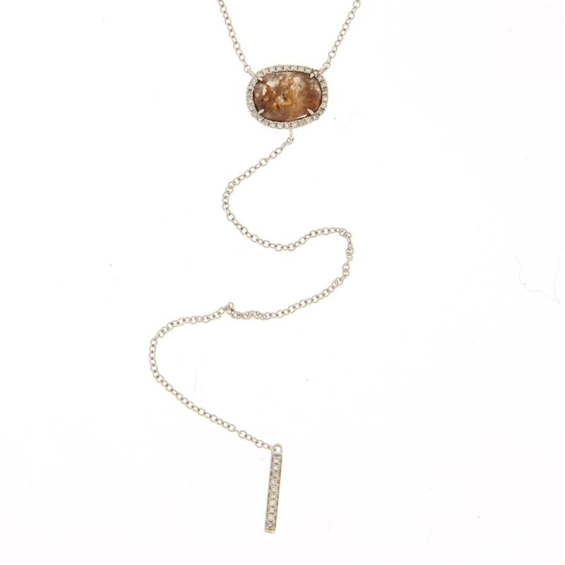 Rough Diamond Lariet Necklace