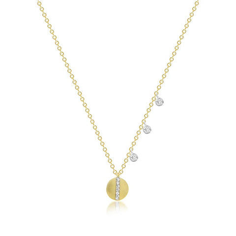Yellow Gold Emerald and Diamond Charmed Necklace