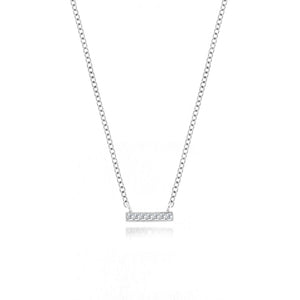 White Mini Diamond Bar Necklace