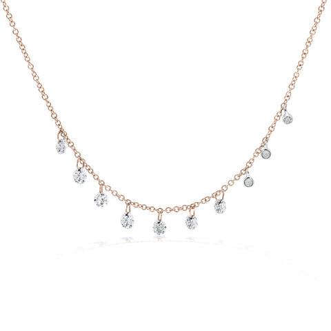 Meira T Drilled Diamond Necklace
