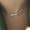 diamond script necklace-Meira T