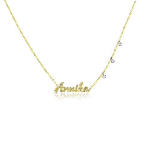 Diamond Script Necklace