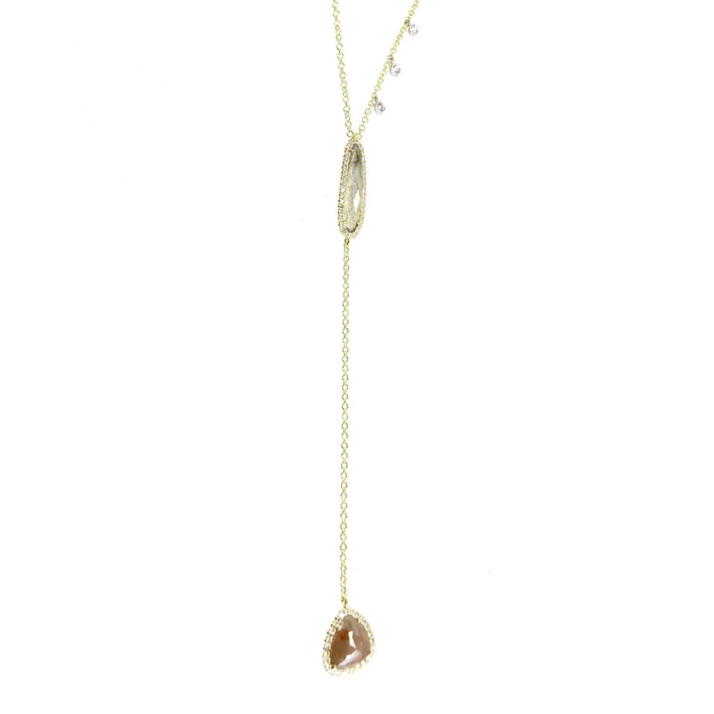 Yellow Gold Lariet Necklace