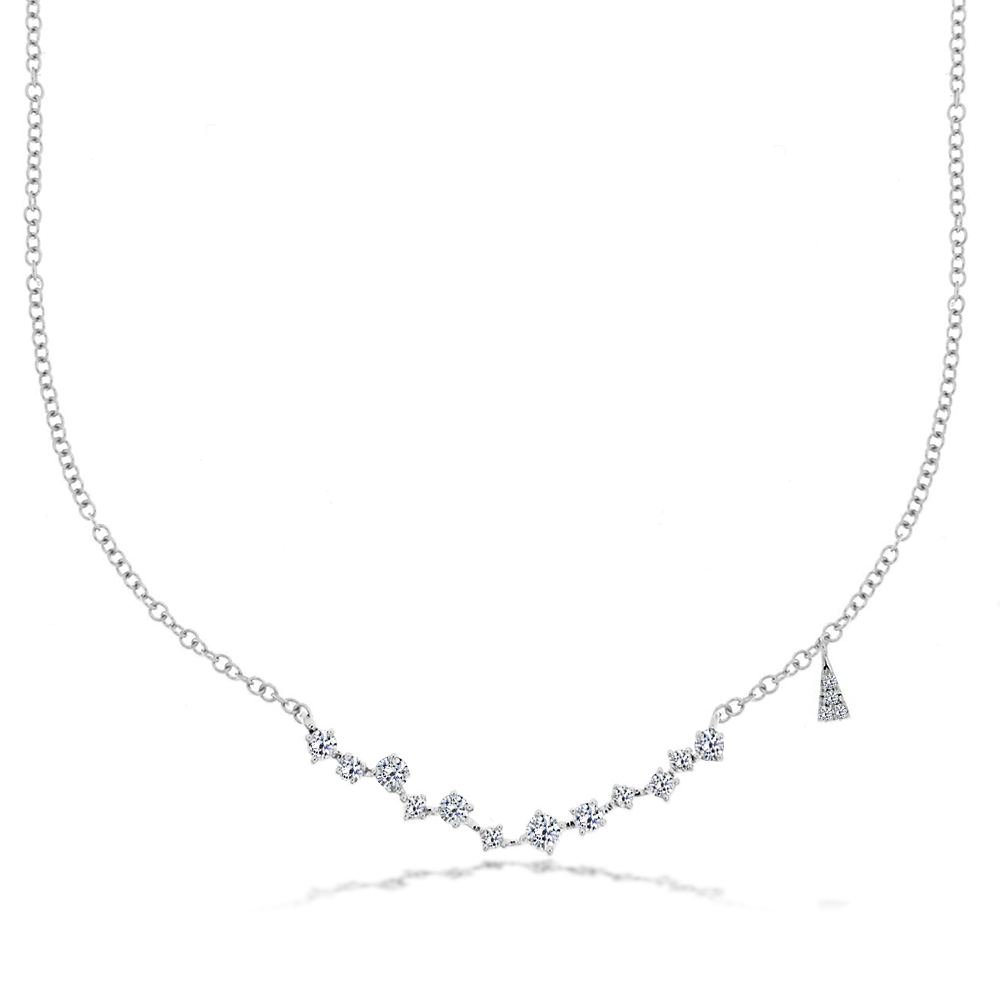 Meira T Diamond Bar Necklace
