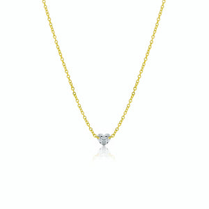 Yellow Gold Drilled Heart Diamond