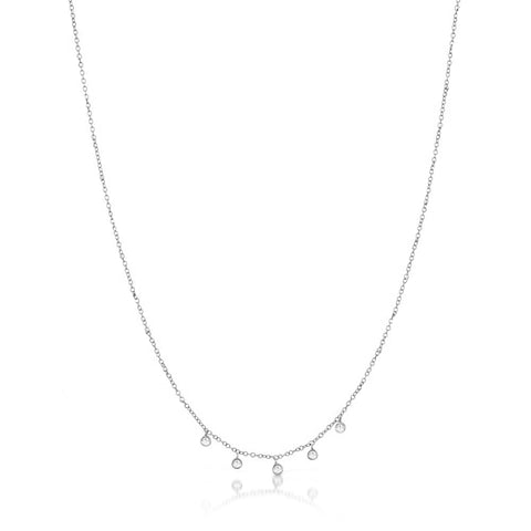 Meira T White Gold and Ruby Necklace