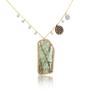 Green Tourmaline Bezel Necklace