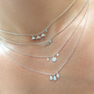 White Gold Disc Necklace