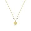 Yellow Gold Dainty Disc Necklace