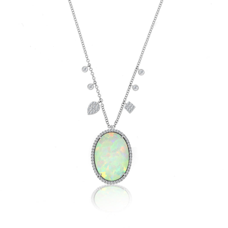 opal oval necklace