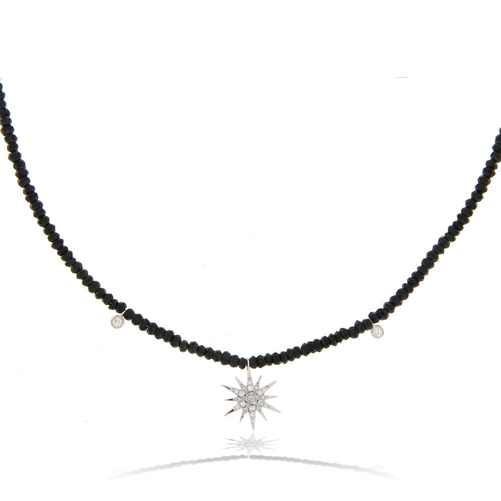Starburst Hematite Beads Necklace