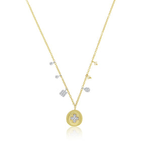 Diamond Cross Coin Necklace