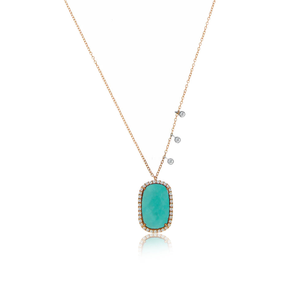 Amazonite Rose Gold Necklace