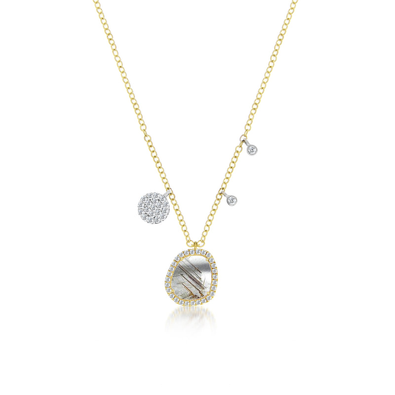 Rutilated Quartz Charm Necklace