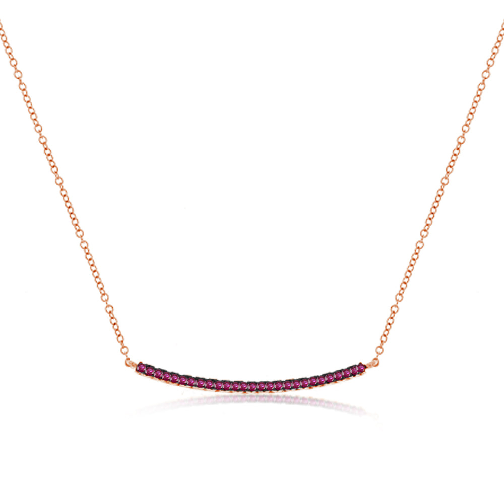 Ruby Bar Necklace
