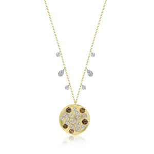 Rough Diamond Coin Necklace