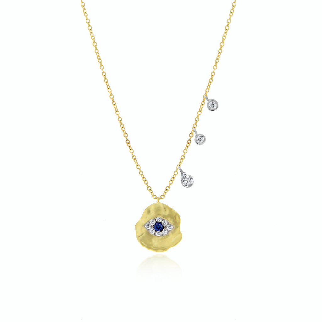 eye coin necklace-Meira T