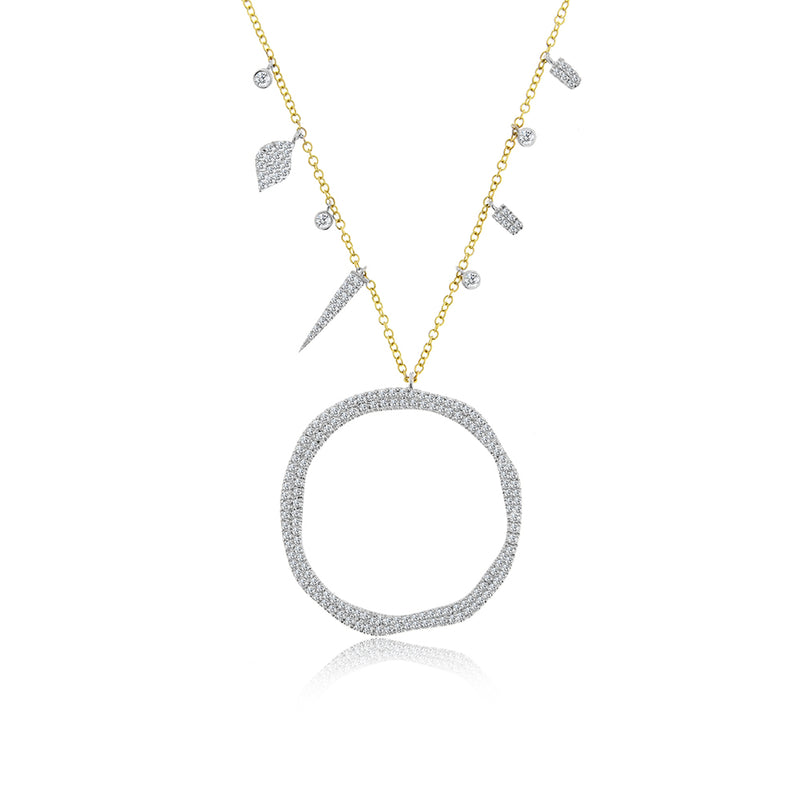 Diamond Hoop Necklace