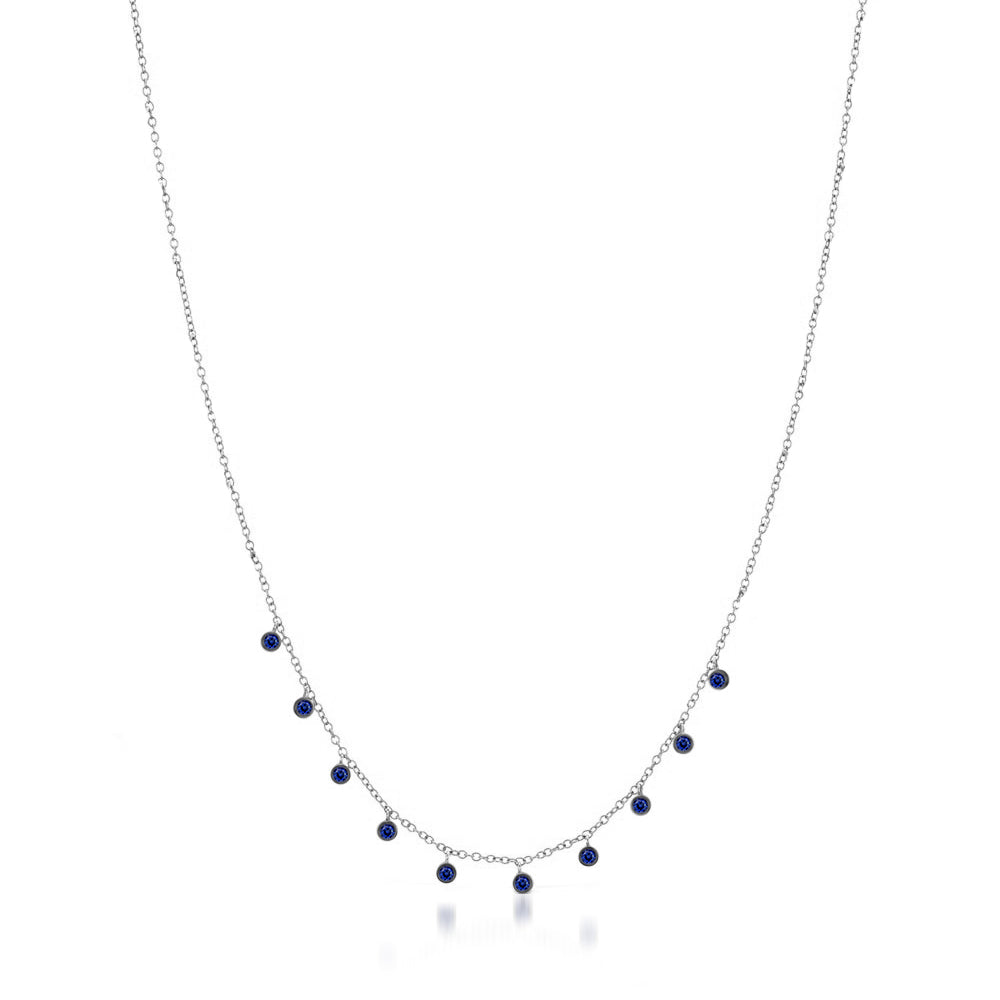 necklace estatue sapphire blue by product karatcraft set