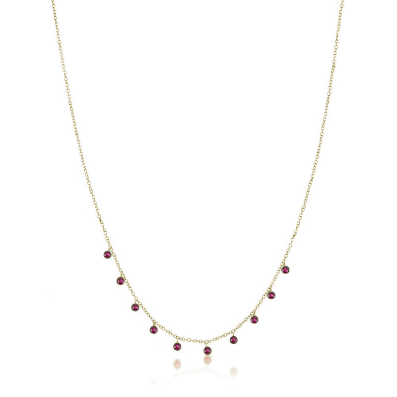Pink Ruby Diamond Necklace