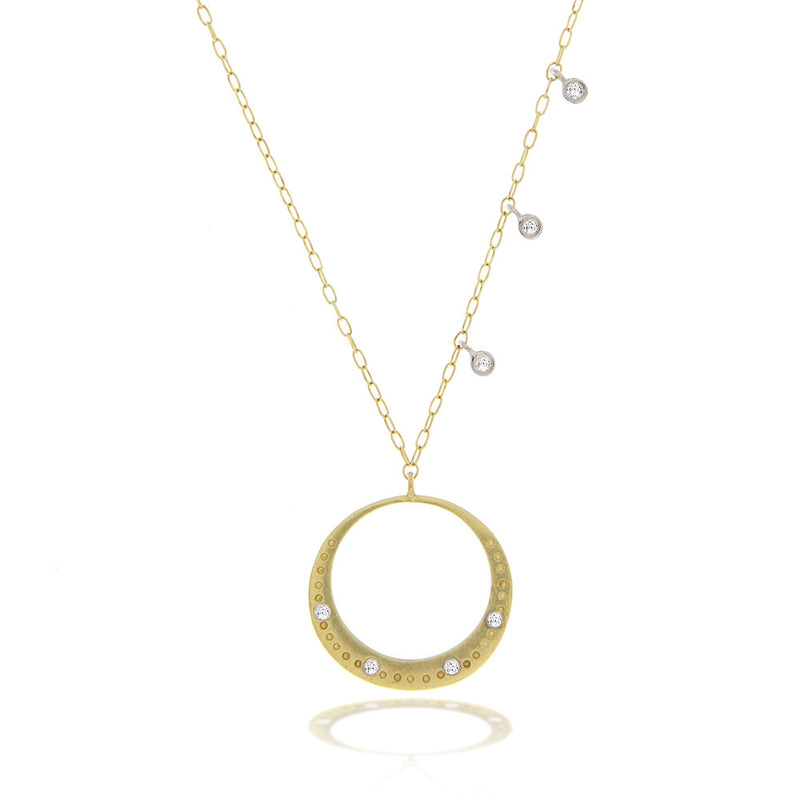 Yellow Gold Textured Gold Necklace