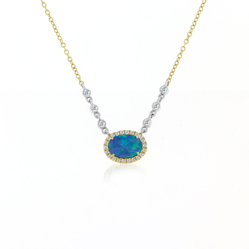 Opal and Diamonds Necklace