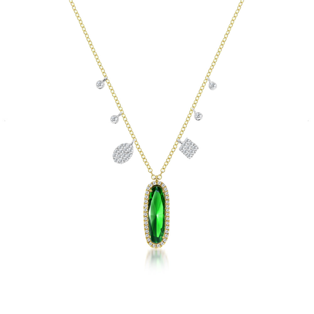 Green Chrome Tourmaline Pendant Necklace