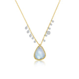 Rainbow Moonstone Charm Necklace