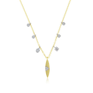Yellow Gold Charm Necklace