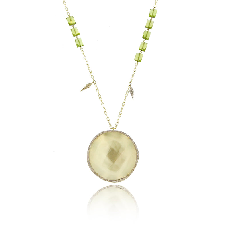 Yellow Gold Stone Necklace