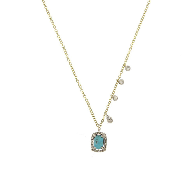Turquoise Halo Necklace