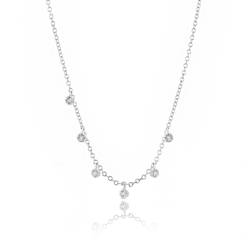 Pave Diamond Charm Necklace