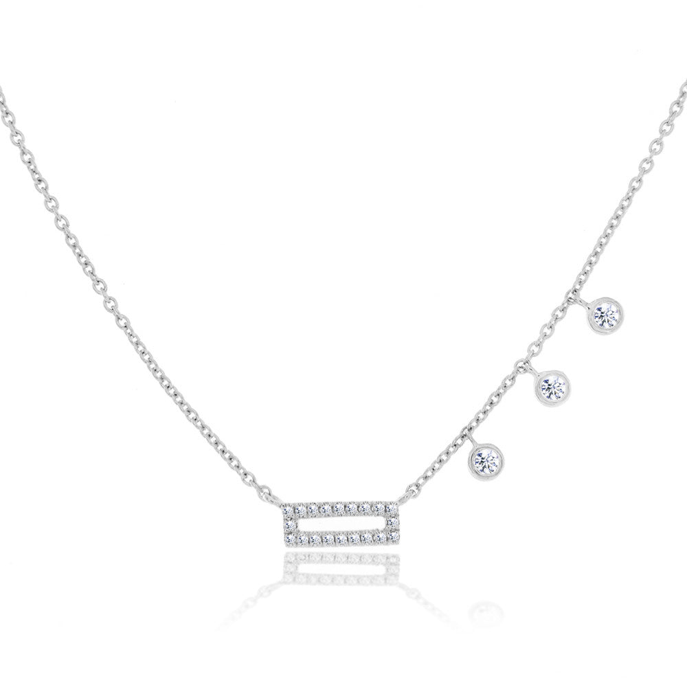 White Gold Bar Necklace
