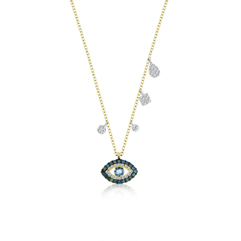 Blue Diamond Evil Eye Necklace