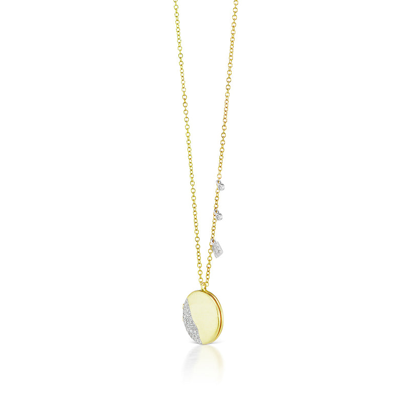 14k yellow gold locket necklace