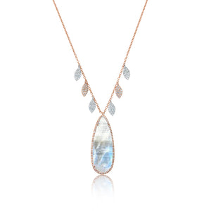 Rainbow Moonstone Statement Necklace