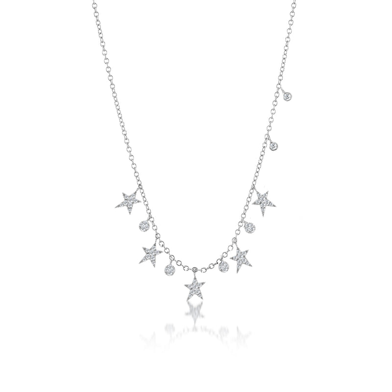 Diamond Star necklace-Meira T