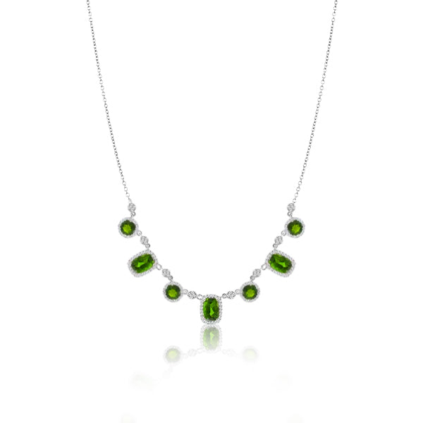 White Gold Green Chrome Necklace