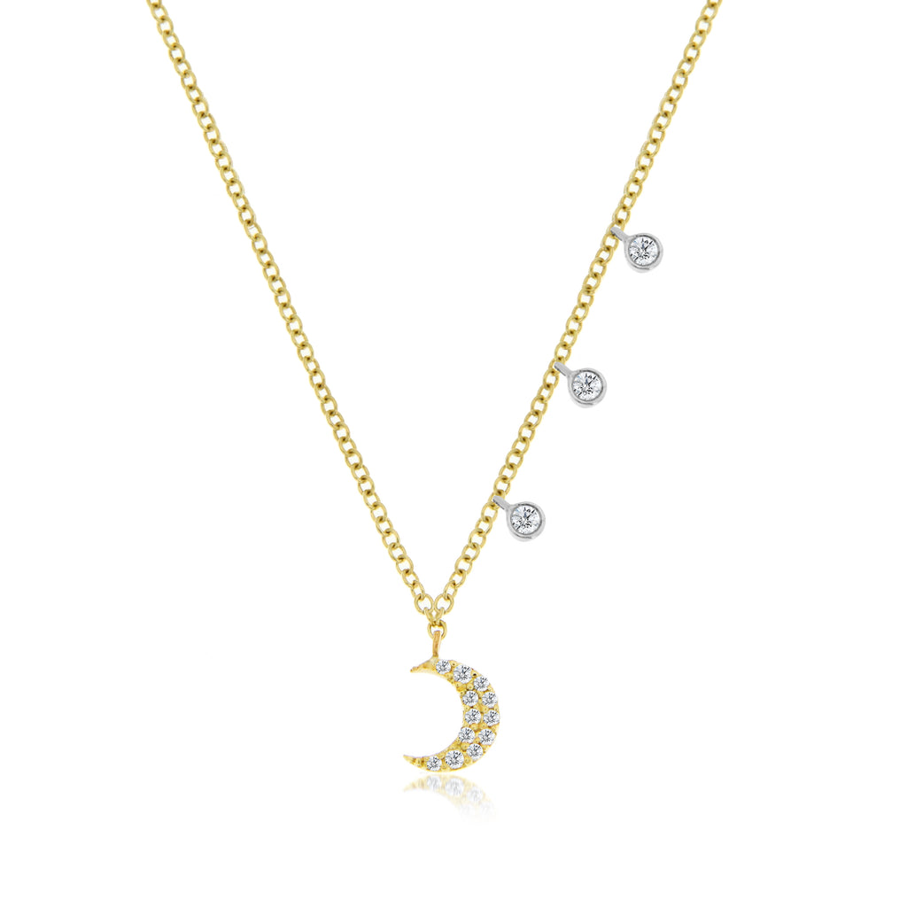 diamond moon necklace
