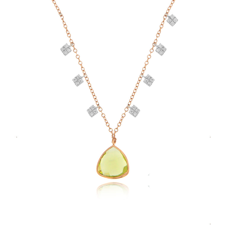 Rose Gold Peridot Necklace