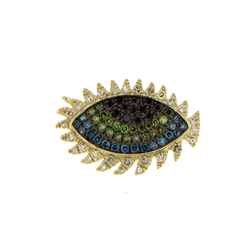 Multi Color Sapphire Diamond Evil Eye